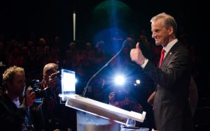 Ap-leder Jonas Gahr Støre har tro på at Ap kan vinne lokalvalget ved å sette fokus på skolepolitikk. (Foto: Johannes Dalen Giske/Arbeiderpartiet)