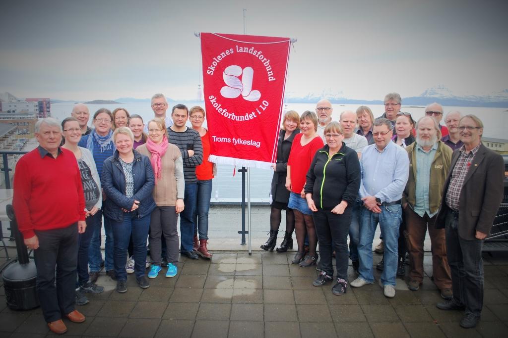 Rundt 30 delegater fra Troms, inkludert fem tidligere fylkesledere, var samlet i Harstad tirsdag og onsdag